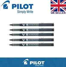 3 X Pilot Hi-Tecpoint V5 0.5mm Tinta Líquida Rollerball Bolígrafo Negro