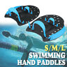 Pair Swimming Hand Paddles Fins Web Gloves Swim Surfing Flippers Training Aids