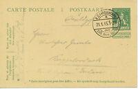 BELGIEN 1915 5 C. Wappenlöwe GA-Postkrt. bedarfsmässig vom dt. Soldaten benutzt