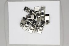 Fold Over Buckle Necklace Bracelet Clasp Silvertone Pack of 10