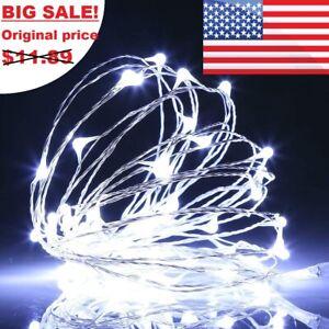 Outdoor Solar 100LED Fairy String Lights Copper Wire Waterproof Garden Decor  US