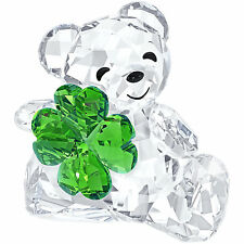 NEW SWAROVSKI KRIS BEAR GOOD LUCK BRAND NEW IN BOX #5063321 GREEN CLOVER SALE$