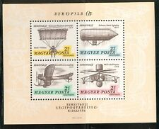 HUNGARY-1967.AIR - Souv.Sheet - Aerofila I.(Airplane,Zeppelin) MNH!!! Mi Bl.57