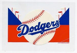 1950's Brooklyn Dodgers stadium theme water transfer decal