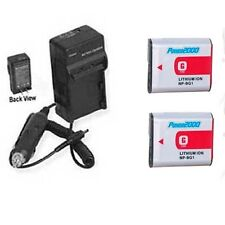 2X Batteries + Charger for Sony HDR-GW55 HDR-GW55VE HDR-GW77 GW77E GW77V GW77VE