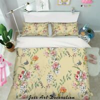 3D Flower Yellow Quilt Cover Duvet Cover Comforter Cover Single/Queen 17