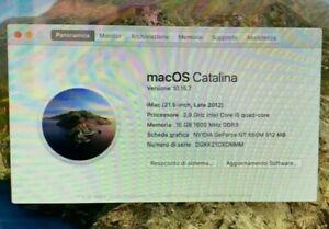 iMac 21.5' Late 2012 i5 2.9Ghz ram16GB hdd1TB GT650M+MagicMouse+T.Grafica+tast.