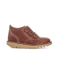 Chaussures marrons Kickers en cuir pour bébé