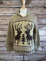 Polo Ralph Lauren Alaskan Shawl Hand Knit Sweater Men's M Medium 40 RRL