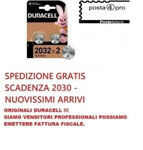 DURACELL CR2032 3 V 2032 LITIO due batterie litio CR2032