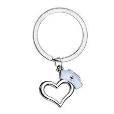 Nurse Cap Prayer Heart Keychain Charm Keyring Graduation Nurse Gift Key Chains