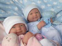 BERENGUER LA NEWBORN TWIN GIRL BOY DOLL FOR REBORN/PLAY ❤️ REALISTIC & LIFELIKE