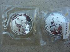 CHINA 2 X 10 Yuan Panda 1 oz Silver 2004 Shenzhen & Shenyang Sealed Mint