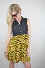 Animal Print Viscose Short Sleeve Dresses for Women