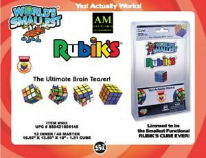 World's Smallest Rubiks Cube - Smallest Magic Cube 100% Function - New/Boxed