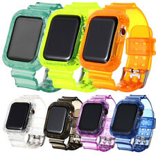 Watch Band Strap Clear TPU Silicone For Apple Watch Series 6/5/4/3/2/1 iwatch SE