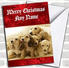 Dachshund Dogs Christmas Customised Card
