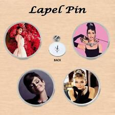 AUDREY HEPBURN LAPEL PIN GREAT GIFT IDEA STOCKING FILLER ICONIC IMAGES
