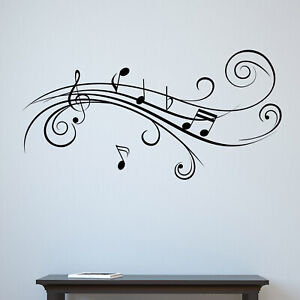 Cool Musical Notes v2 Wall Sticker Decal Transfer Music Home Matt Vinyl UK