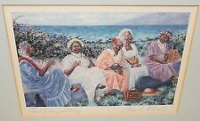 """ANGELA MARIE KANAS """"TALKING STORY"""" SMALL COLOR HAND SIGNED LITHOGRAPH"""