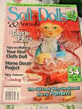 SOFT DOLLS & ANIMALS~Feb-March 2015 cloth doll patterns~techniques~tips magazine