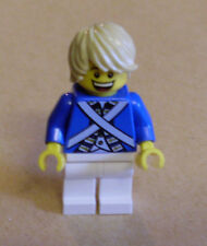 Lego personaje bluecoat Soldier 7-tousled Hair (2 rostros azul rock rubio) nuevo
