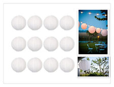 "12x10"" White New Round Paper Lanterns Lamp Wedding Birthday Party Decorations"