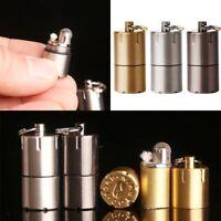 windundurchlässige Feuerzeug tragbare Zigarette Zündung EDC Schlüsselkette S4I9