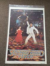 Saturday Night Fever 1977 Teaser Movie Poster Disco Dancing John Travolta