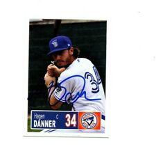 Hagen Danner 2018 Bluefield Blue Jays auto signed team rookie card Toronto 2017