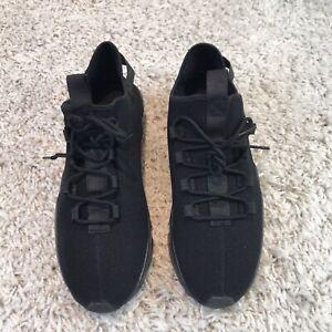 Mens Shoes UK 11 Eur 45 Black Knit Lightweight Trainers