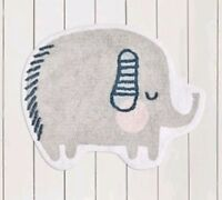 Elephant Rug Grey 100% Cotton Anti Slip Bedroom Nursery unisex 70x90cm🐘🐘kids