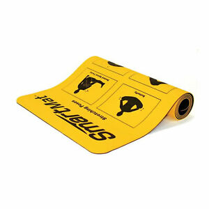 Prism Fitness 6 Millimeter Smart Mat with Exercises and Stretching Poses, Yellow