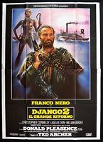 M199 Manifesto 4F Django 2 Il Grande Ritorno Franco Negro Spaghetti Western
