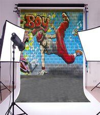 Hip-hop Graffiti Wall Scene Photography Backgrounds 5x7ft Vinyl Photo Backdrops