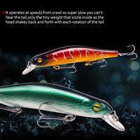 Eyes 3D Eyes Bionic Bait Minnow Wobbler Plastic Hard Crank Fishing Lure