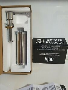 Vigo VGSD002CH 10-Ounce Soap or Lotion Dispenser in Chrome Brass