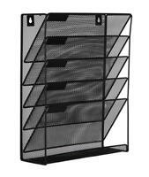 EasyPAG Mesh Wall File Holder 5 Tier Vertical Mount / Hanging Organizer with