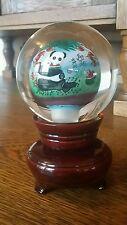 Chinese Vintage CRYSTAL REVERSE BALL PANDA Painted Inside