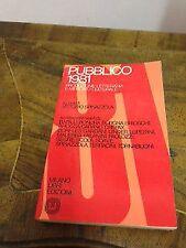 Vittorio Spinazzola – Pubblico 1981. Produzione letteraria e mercato cultural...