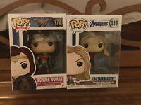 Funko Pop! DC Wonder Woman 172 Gal Gadot Avengers Captain Marvel 459 Brie Larson