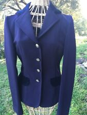 Couture Hippique Womans  Equestrian Show Riding Jacket Navy Euro 36 US 4-6 Small