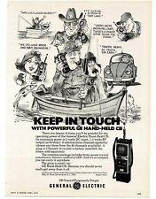 1978 GE General Electric Model 3-5975 Hand Held CB Radio art  VTG PRINT AD