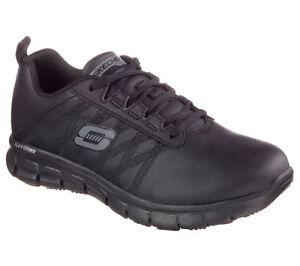 76576 Skechers Women's SURE TRACK-ERATH SR Work Shoes Black A5