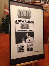"""BIG 11X17 FRAMED ORIGINAL ELVIS PRESLEY """"PROMISED LAND"""" LP ALBUM CD PROMO AD"""