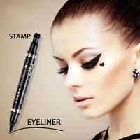 2 in 1 Pro winged eyeliner stamp waterproof makeup eye liner pencil black'liquid