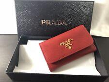AUTHENTIC NWT Prada Key Holder Case Red Anti Scratch Leather