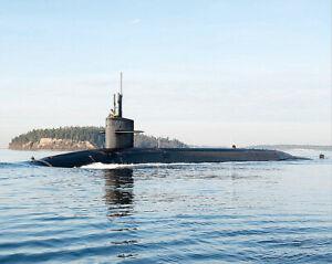 U.S. NAVY SUBMARINE USS NEVADA SSBN 733 8x10 SILVER HALIDE PHOTO PRINT