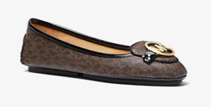 Michael Kors Lillie Moc Logo Brown Semi Luxe/Patent Women's sizes 5-12/NEW