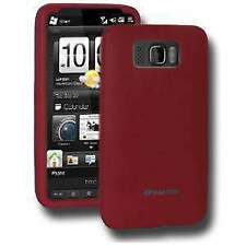 AMZER SILICONE SOFT SKIN FIT JELLY BACK CASE COVE FOR HTC HD2 - MAROON RED